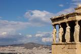 The acropolis: Erectheion, caryatids poster