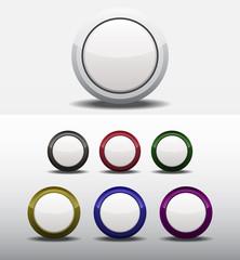 Set Round Dark Buttons