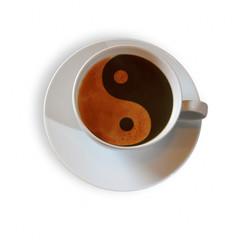 Kaffeetasse mit Yin & Yang Symbol