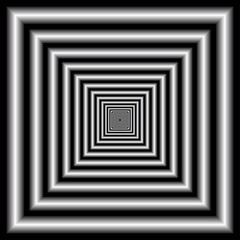 Tunnel. Optical Illusion