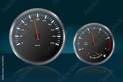 Auto Tachometer Armaturenbrett Geschwindigkeit Tankanzeige 1
