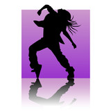 Break dancer purple square