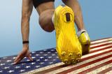 Sprinter start US flag