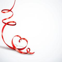 Rotes Band, Luftschlange - Herzform