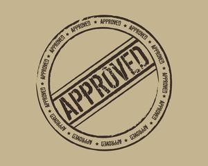 Grunge stamp approved