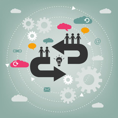 cooperation concept - teamwork