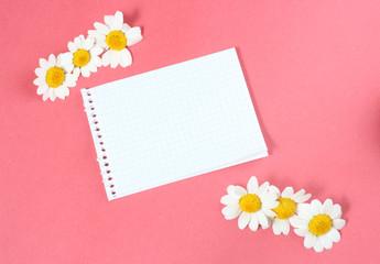 nota con flores