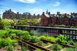 Leinwanddruck Bild - HIgh Line, urban public park, New York City, Manhattan