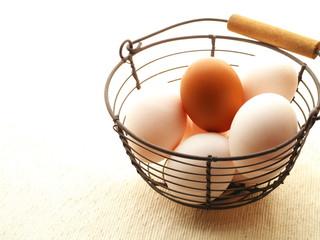 バスケットの中の卵
