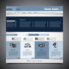 web site design template for company with black background