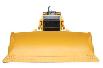 The modern yellow bulldozer