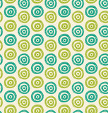 Seamless green hand drawn circles pattern