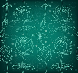Lotus silhouette background