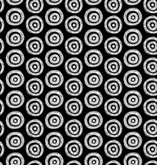 Seamless black and white hand drawn circles pattern