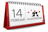 Kalender 14 Februar Valentinstag Liebe Herz