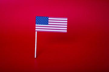 True paper cut of American  Flag