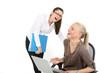 lachen bei der Arbeit
