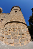 The old fortress tower in Rhodes