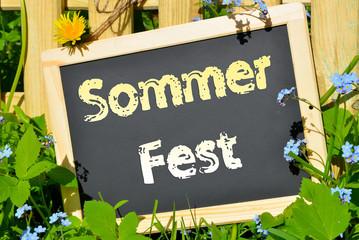 Gartenparty Sommerfest Schild