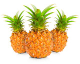 Fresh pineapple on white background