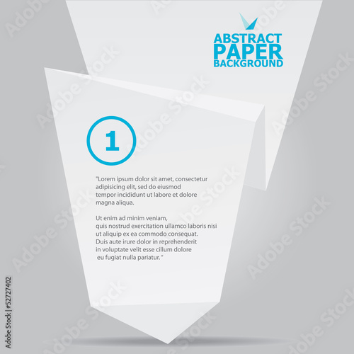 White vector stylish brochure for text and advertising.