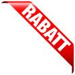 """Banner """"Rabatt"""" rot"""