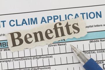 benefits newspaper cutout