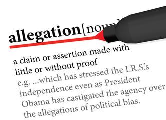 allegation