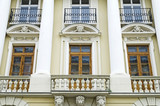Beautiful facade of the old building in Lvov