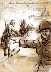 World 1905-1949, Operation Barbarossa (full sized hand drawing)