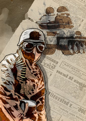 World between 1905-1949 - Soldier (full sized hand drawing)