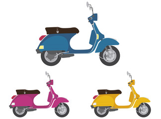 Vespa colorful