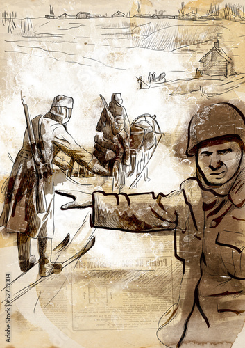 World 1905-1949, Operation Barbarossa (full sized hand drawing)