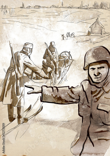 World 1905-1949 - Operation Barbarossa (full sized hand drawing)