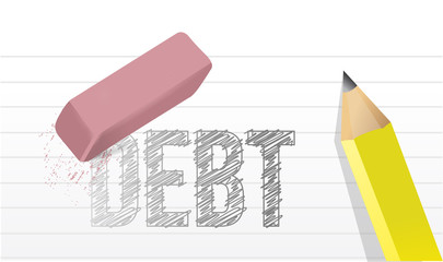 erase debts concept illustration design