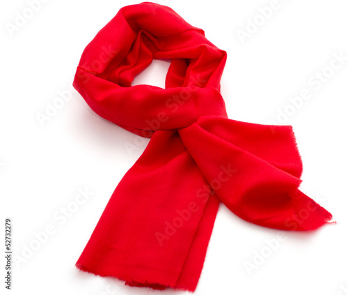 Red scarf or pashmina
