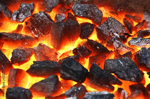 Fotobehang Vuur / Vlam Live coals