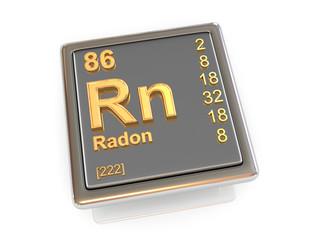 Radon. Chemical element.