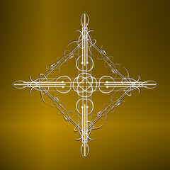 luxury gold pattern ornament borders of black background
