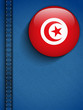 Tunisia Flag Button in Jeans Pocket