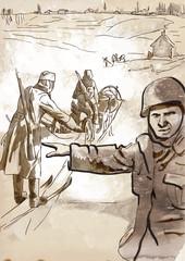 World 1905-1949 - Operation Barbarossa (drawing into vector)