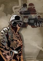 World between 1905-1949 - Dark Soldier  (drawing into vector)