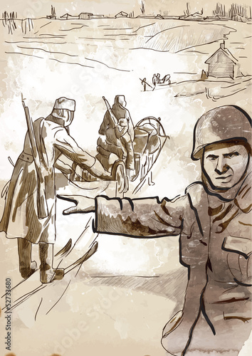 World 1905-1949 - Operation Barbarossa (drawing into vector)