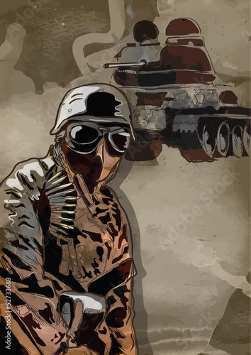 World between 1905-1949 - Dark Soldier  (drawing into vector)