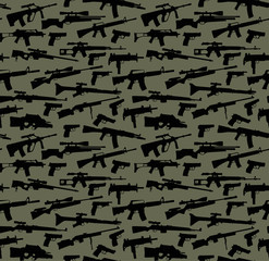 Weapon vector seamless background