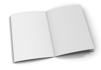 Blank/empty brochure on white background.