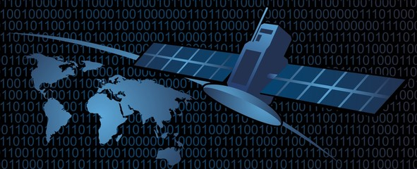 Global satellite communication and binary code