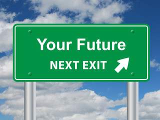 YOUR FUTURE Signpost (careers jobs success business people)