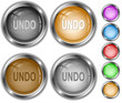 Undo. Vector internet buttons.