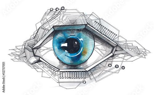 Leinwandbild Motiv high-tech technology